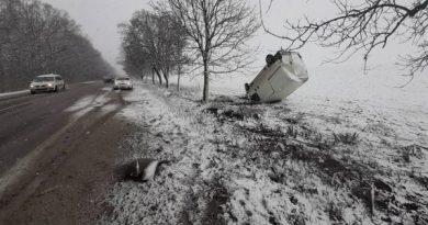 Accident la Drochia: Un microbuz a ajuns într-un câmp 2