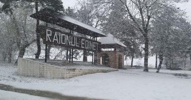 /VIDEO/ NINGE în nordul țării. Pământul este acoperit de un strat subţire de zăpadă 1 14.04.2021