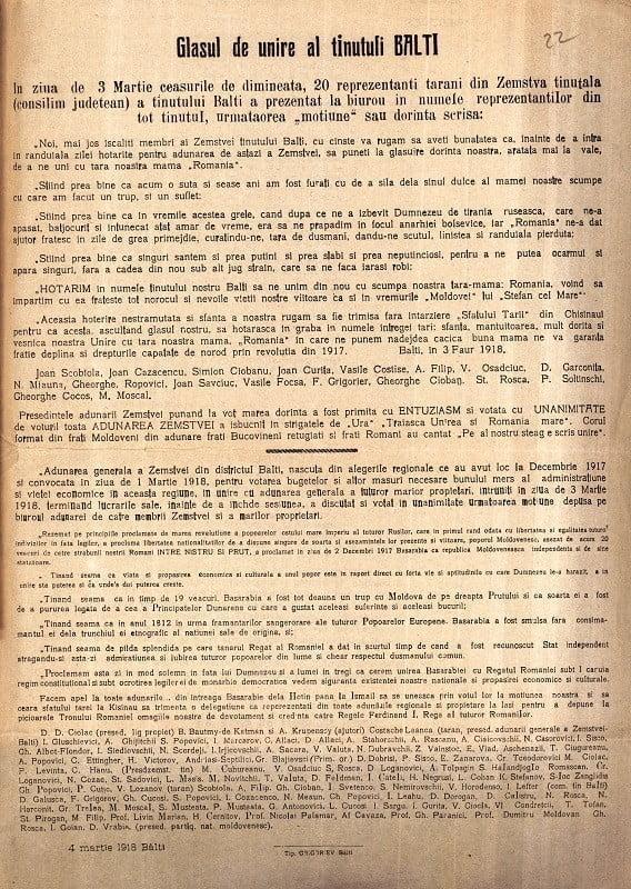 Foto Unirea cu România s-a început la Bălți, acum 102 ani 2 16.06.2021