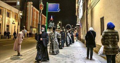Foto В Москве монахи Высоко-Петровского монастыря решили спасаться от коронавируса ежедневными крестными ходами 4 23.06.2021