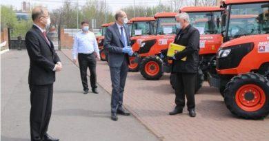 Guvernul Japoniei a oferit peste 40 de tractoare fermierilor din țară