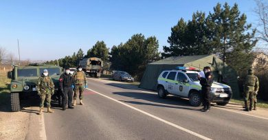 Министерство обороны разместило блокпосты с бронетехникой в Сорокском и Штефан-водском районах