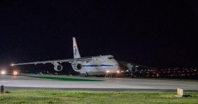 В аэропорт Кишинева  российский грузовой самолет АН-124 «Руслан» доставил из Китая снаряжение для медиков и тесты Covid-19