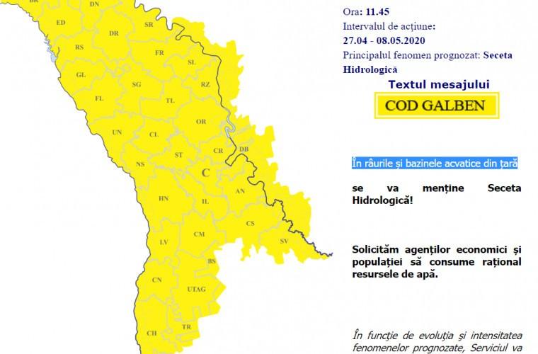 Foto Желтый код гидрологической засухи в Молдове был продлен до 8 мая 2 14.06.2021