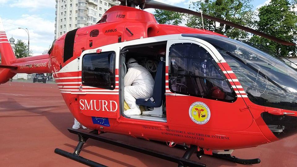 Foto Intervenție SMURD la Ocnița. Un tânăr transportat cu elicopterul la Chișinău 2 25.07.2021