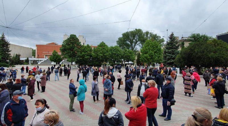 Foto На центральной площади Бэлць начался новый протест работников рынка (Фото) 1 24.07.2021