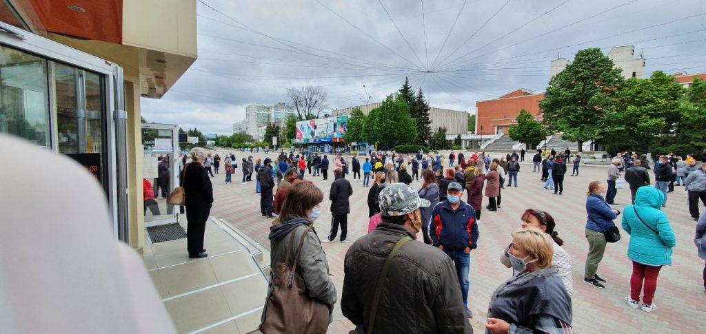 Foto На центральной площади Бэлць начался новый протест работников рынка (Фото) 3 24.07.2021