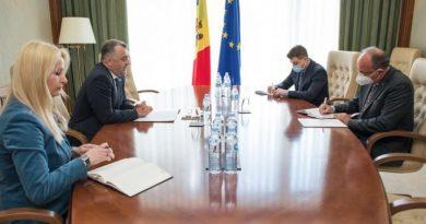 Foto Premierul Ion Chicu a avut o întrevedere astăzi cu ambasadorul României, Daniel Ioniță 1 21.06.2021