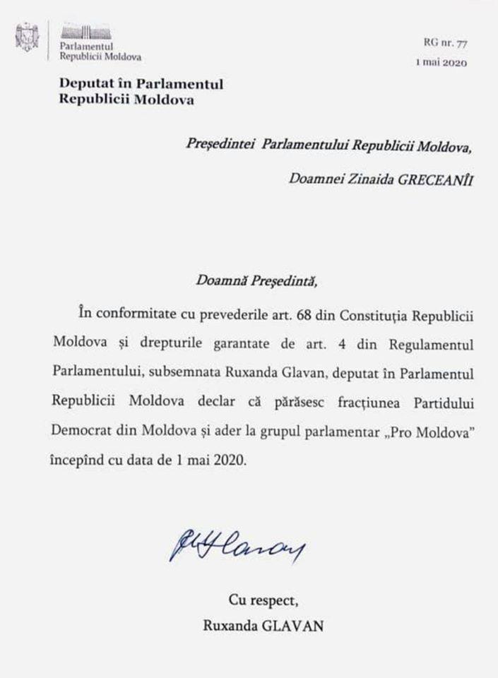 """Foto Кризис в Демпартии: Руксанда Главан покидает фракцию ДПМ в парламенте, чтобы присоединиться к """"Pro-Moldova"""" 2 25.07.2021"""