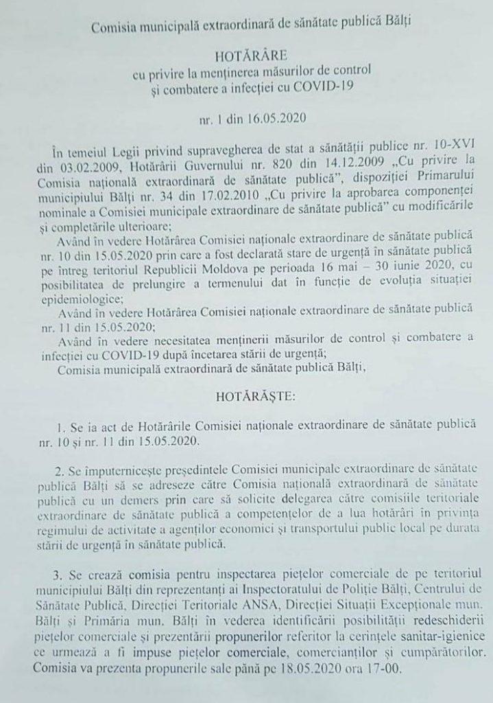 Foto Бельцкие власти идут на конфликт с центральными властями: местная комиссия принимает решение открыть рынки с 19 мая 2 24.07.2021