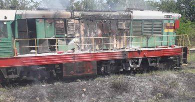 Foto O locomotivă a fost cuprinsă de flăcări în raionul Ungheni 1 24.07.2021
