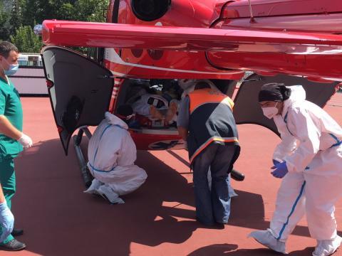 Intervenție SMURD la Sângerei. Un bărbat transportat cu elicopterul la Chișinău