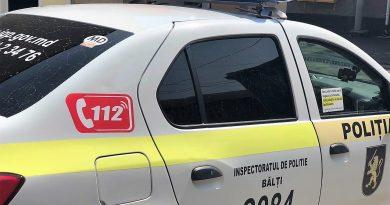 Poliția a reținut o persoană care a incendiat un automobil și mai multe tomberoane din Bălți