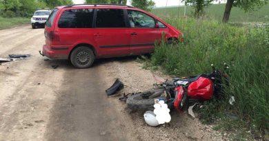 Accident rutier în raionul Râșcani. Un motociclist a ajuns sub roțile unui vehicul 3 15.05.2021