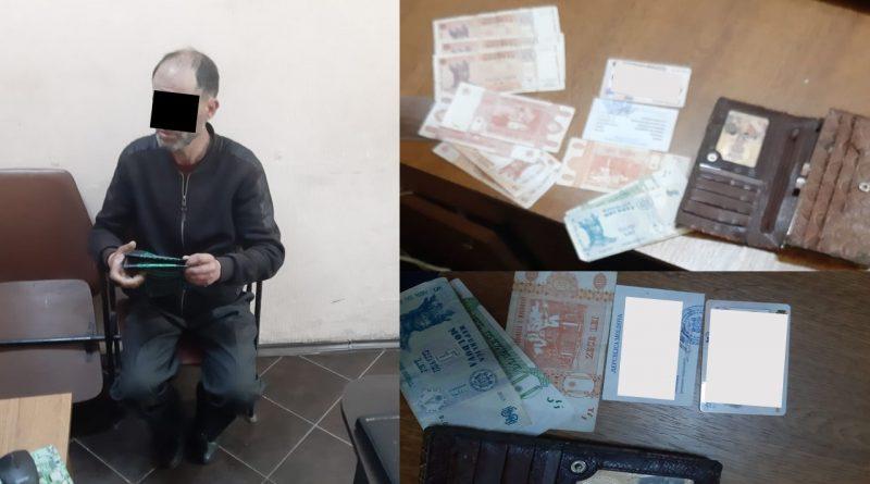 Bărbat din Bălți reținut de poliția capitalei pentru furtul unui portmoneu
