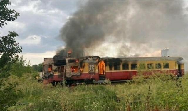 Noi detalii despre trenul cuprins de flăcări