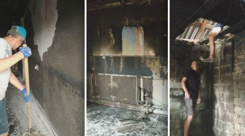 /FOTO/ Casă mistuită de flăcări în orașul Drochia. O familie cu nouă copii a rămas fără adăpost