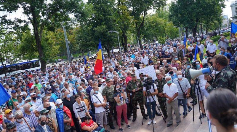 В центре Кишинева проходит очередной протест ветеранов Приднестровья 1 15.05.2021