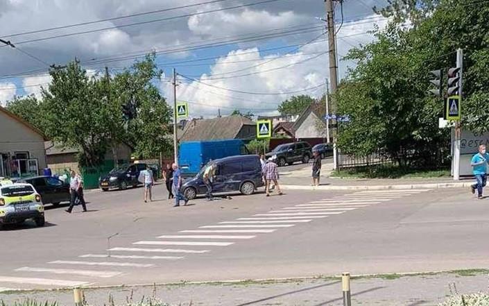 Accident cu implicarea mașinei de poliție produs pe o stradă din Bălți