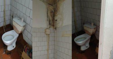 /FOTO/ Condiții dezastruase la Spitalul Clinic Bălți. O secție unde stau pacienții suspecți la coronavirus are pereții plini de mucegai
