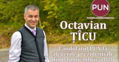 Octavian Țîcu este candidatul Partidului Unităţii Naţionale la alegerile prezindenţiale