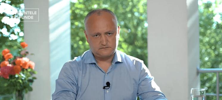 Igor Dodon către oponenții politici: Dacă o să vă băgați o să vă dăm peste dinți