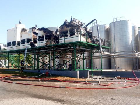 /FOTO/ O instalație frigorifică de la fabrica de sucuri din oraşul Edineţ a fost cuprinsă de flăcări 1 18.05.2021