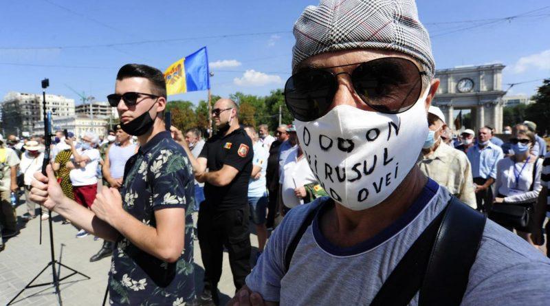 Foto В центре Кишинева на площади Великого национального собрания 23 августа прошел протест за отставку президента Игоря Додона и правительства 1 29.07.2021