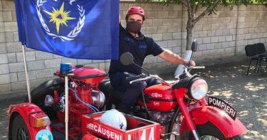 /FOTO/ Unica motocicletă care va merge la stingerea incendiilor se află la Căușeni