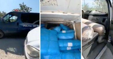 /VIDEO/ Contrabandă cu îmbrăcăminte în valoare de aproximativ jumătate de milion de lei depistată în nordul țării