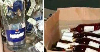 /VIDEO/ Alcool contrafăcut în sumă de 10 mii lei depistat în orașul Bălți