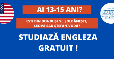 Elevii din Dondușeni vor avea posibilitatea să studieze gratuit limba engleză