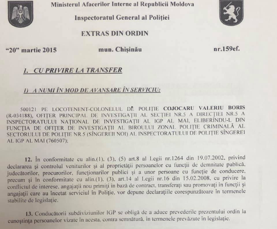 Foto Șeful Inspectoratului de Poliție Bălți reacționează la o acuzație adusă de Renato Usatîi 2 24.07.2021