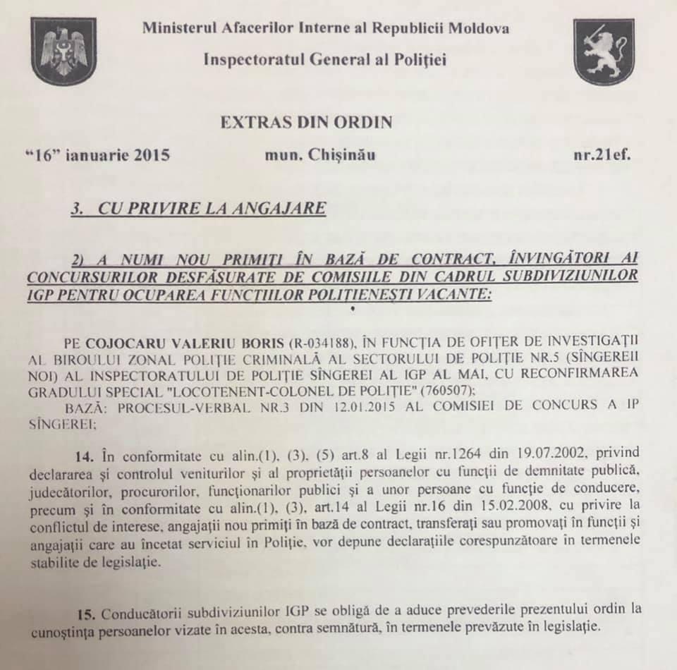 Foto Șeful Inspectoratului de Poliție Bălți reacționează la o acuzație adusă de Renato Usatîi 1 24.07.2021