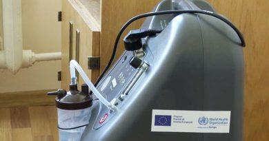 Peste zece concentratore de oxigen au fost donate în spitalele din Bălți