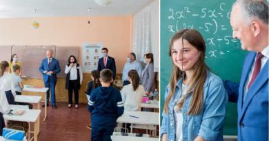 Ministrul Educației condamnă comportamentul lui Dodon, după ce acesta a fost surprins fără mască în școală