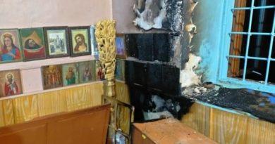 Incendiu la biserica din satul Bădiceni, raionul Soroca