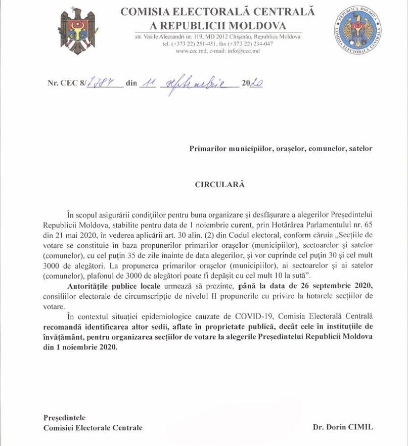 Foto /DOC/ CEC recomandă desfășurarea alegerilor în afara instituțiilor de învățământ 1 24.07.2021