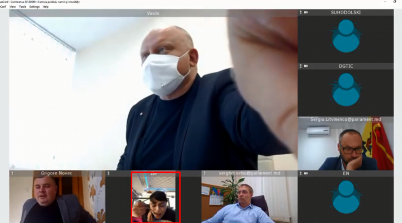 (Видео)Депутат-социалист Алла Долинцэ ела куриный суп и разговаривала по телефону во время онлайн-заседания 1 15.05.2021