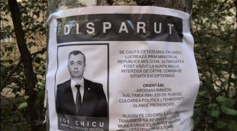 Anunț hazliu: Premierul Ion Chicu dat în dispariție