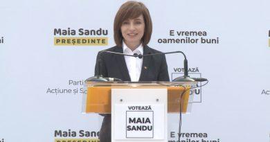 Кандидат в президенты от ПДС Майя Санду обратилась к избирателям на русском языке 2