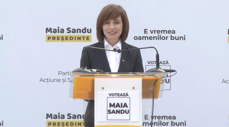Кандидат в президенты от ПДС Майя Санду обратилась к избирателям на русском языке 42 15.05.2021