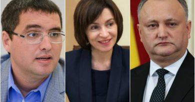 Sondaj Nou: Igor Dodon, Maia Sandu și Renato Usatîi – favoriții cursei prezidențiale