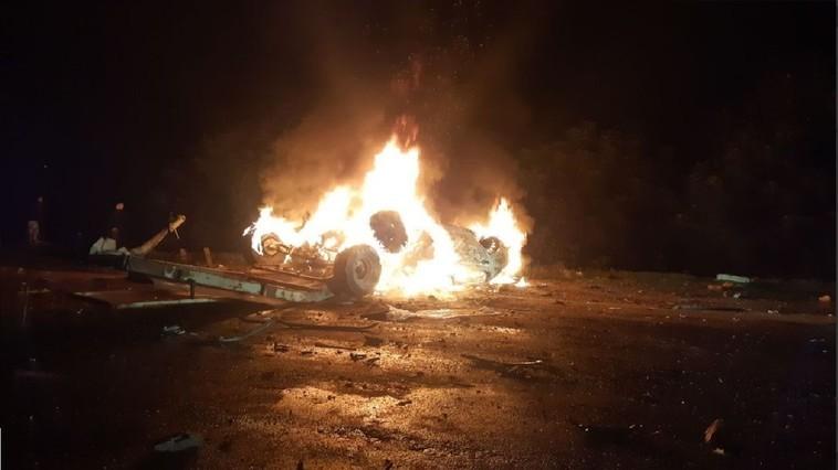 /FOTO/ Grav accident în raionul Drochia. Un bărbat a ajuns la spital, iar altul a ars de viu