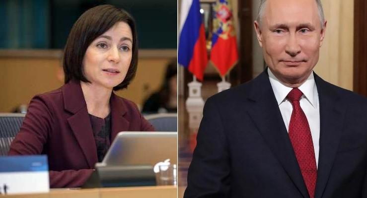 Президент России В. Путин поздравил Санду с победой на выборах президента Молдовы 2 12.05.2021