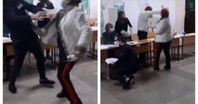 O femeie din Bălți a luat la pumni un observator în secția de votare