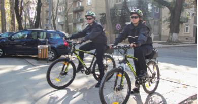 Polițiștii din Edineț vor patrula pe biciclete în locurile publice din oraș