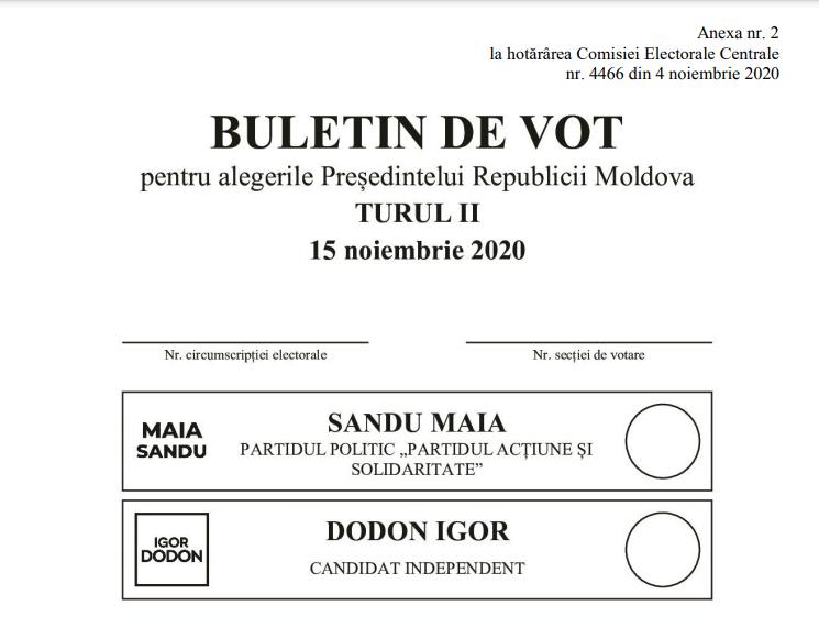 Foto /FOTO/ Cum va arăta buletinul de vot pentru alegerile prezidențiale din turul doi 1 24.07.2021
