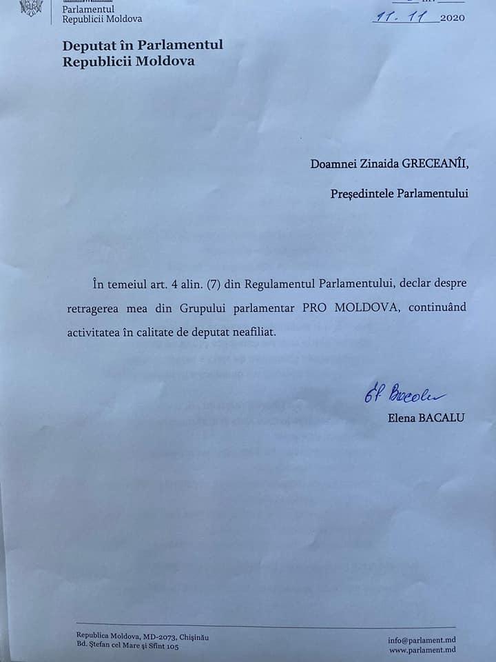 """Foto /DOC/ Încă un deputat a părăsit Pro Moldova și s-a alăturat platformei """"Pentru Moldova"""" 1 22.09.2021"""