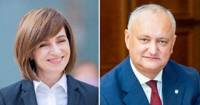Майя Санду обходит Игоря Додона в первом туре президентских выборов 3 15.05.2021